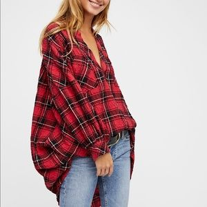 Free People Not Your Boyfriend's Plaid Tunic